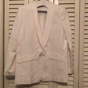 JCrew Unstructured blazer in cotton-linen (white)